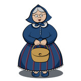 Funny Granny with bag