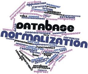 Word cloud for Database normalization