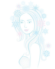 Fantasy snowflake maiden