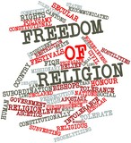 Word cloud for Freedom of religion
