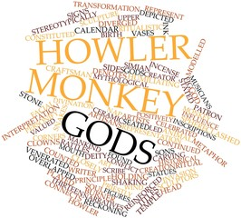 Word cloud for Howler Monkey Gods