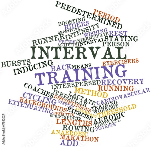 Word cloud for Interval training