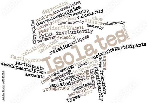 Word cloud for Isolates