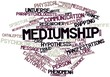 Word cloud for Mediumship