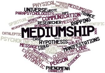 Word cloud for Mediumship