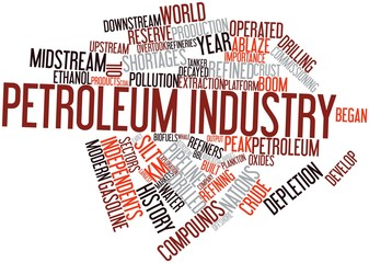 Word cloud for Petroleum industry