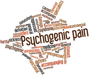 Word cloud for Psychogenic pain