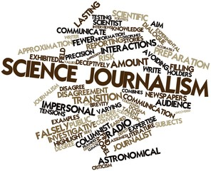 Word cloud for Science journalism