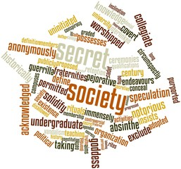 Word cloud for Secret society