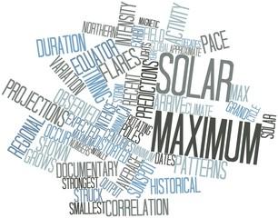 Word cloud for Solar maximum