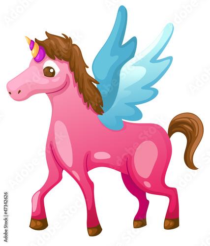 Poster Pony beautiful unicorn vector illustration