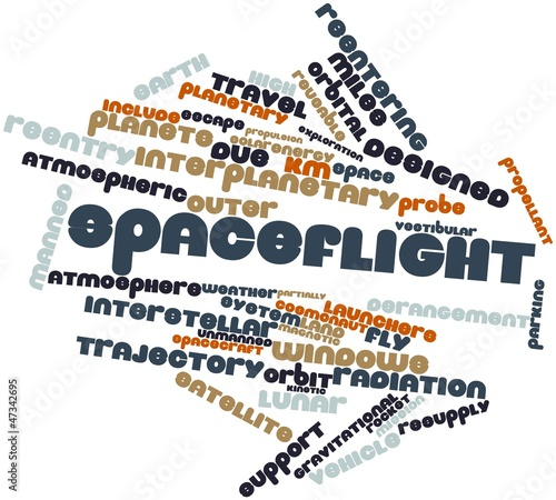 Word cloud for Spaceflight