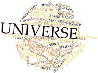 Word cloud for Universe