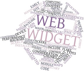Word cloud for Web widget