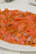 Salmone e arance
