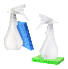 Spray Bottles and Sponges
