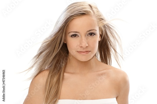 Beautiful blonde with long hair