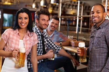 Young people in pub