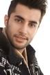 Close-up portrait of handsome guy