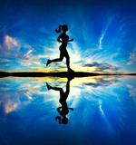 Woman running in the morning