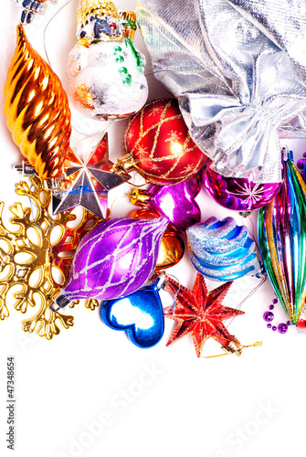 New year background with colorful decorations