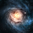 Incredibly beautiful spiral galaxy somewhere in deep space - 47348871