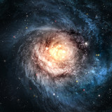 Fototapety Incredibly beautiful spiral galaxy somewhere in deep space