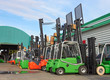 Electric forklift stackers