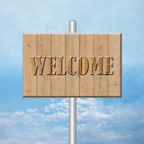 wooden board - welcome