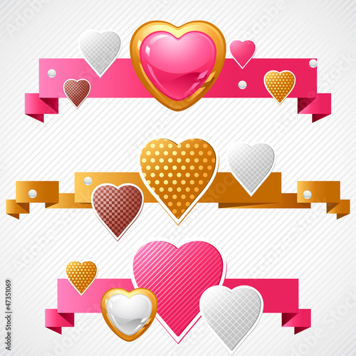 Valentine's Day vector background. Origami speech bubble.