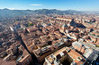 view from Asinelli Tower on Bologna with hills