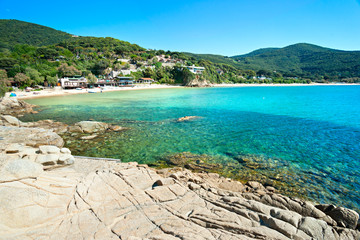 Beautiful coastlines in Elba island.