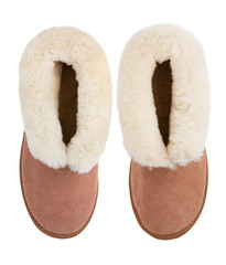 Two home warm sheepskin slippers