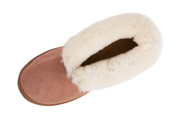 Warm slippers made ​​of suede