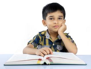 Indian Cute School Boy
