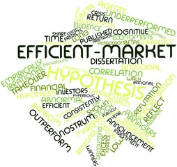 Word cloud for Efficient-market hypothesis