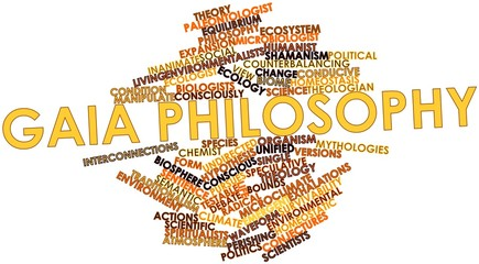 Word cloud for Gaia philosophy