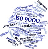 Word cloud for ISO 9000