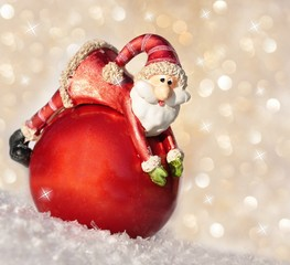 Weihnachtsmann kullert