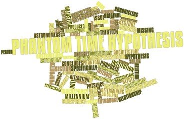 Word cloud for Phantom time hypothesis