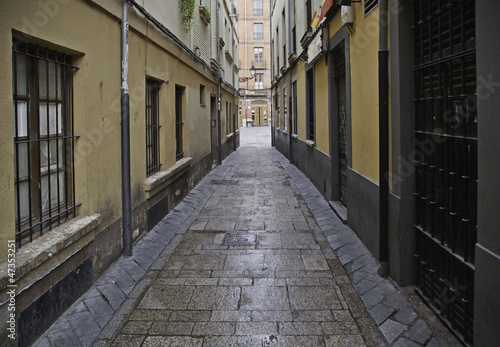 Old alley wet