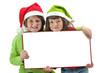 Niñas felicitando la Navidad