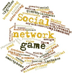 Word cloud for Social network game