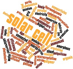 Word cloud for Solar cell