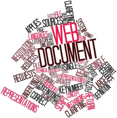 Word cloud for Web document