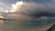 beautiful beach and tropical sea with clouds timelapse
