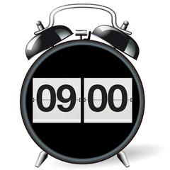 Wecke retro - Uhrzeit 09:00