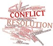 Word cloud for Conflict resolution