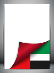 Emirates Country Flag Turning Page