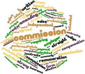 Word cloud for Commission
